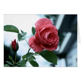 Tarjeta feliz rosada del día de madre subió
