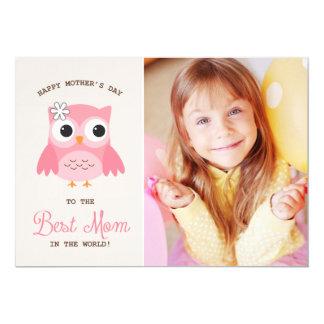 """Tarjeta feliz rosada linda del día de madre del invitación 5"""" x 7"""""""