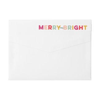 Tarjeta feliz y brillante colorida del día de etiquetas postales