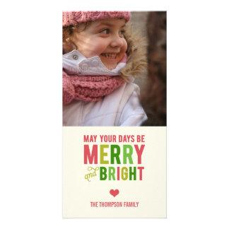 Tarjeta feliz y brillante de la foto del día de fi tarjeta fotográfica personalizada