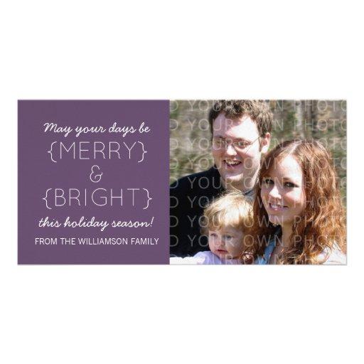 Tarjeta feliz y brillante de la foto del día de fi plantilla para tarjeta de foto
