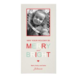 Tarjeta feliz y brillante de la foto del día de fi tarjeta fotografica