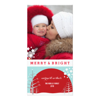 Tarjeta feliz y brillante de la foto del día de plantilla para tarjeta de foto