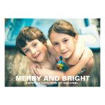 Tarjeta feliz y brillante de la foto del navidad d