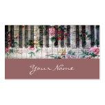 tarjeta femenina del perfil de la música del vinta tarjetas de visita