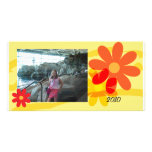 Tarjeta femenina florida de la foto tarjeta personal