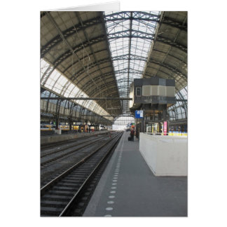 Tarjeta ferroviaria de la foto de la estación cent