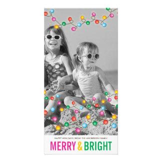 Tarjeta festiva colorida de la foto del día de tarjetas fotograficas personalizadas