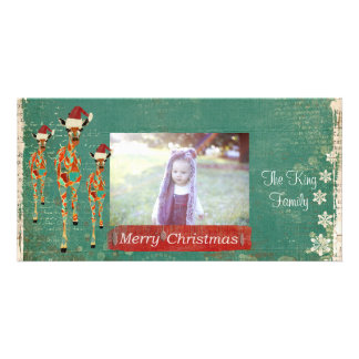 Tarjeta festiva de la foto de las Felices Navidad Tarjeta Fotografica Personalizada