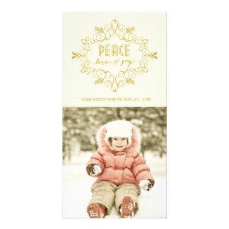 Tarjeta festiva de la foto de los saludos del día tarjeta fotografica personalizada