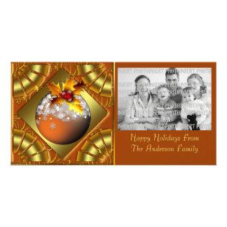 Tarjeta festiva de la foto del navidad del tarjetas personales
