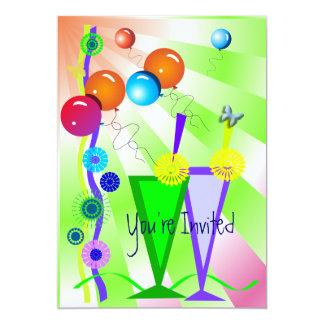 Tarjeta festiva de la invitación invitación 12,7 x 17,8 cm