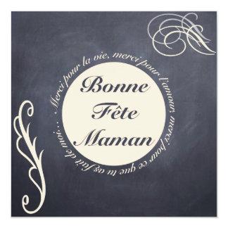 "Tarjeta Fiesta de las Madres - Redondo Beige s Piz Invitación 5.25"" X 5.25"""