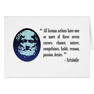 Tarjeta filosófica de las citas de Aristóteles