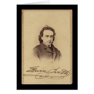 Tarjeta firmada de la cabina 1862 de Edwin del act