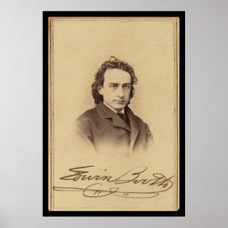 Tarjeta firmada de la cabina 1862 de Edwin del act Impresiones