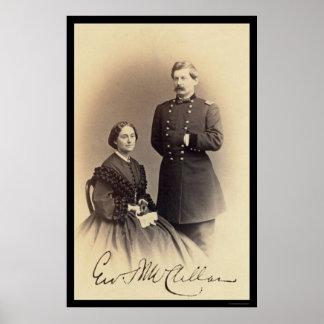 Tarjeta firmada McClellan 1862 de George Poster