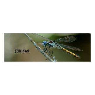 tarjeta flaca 2 de la libélula tarjetas de visita mini