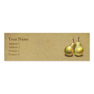 Tarjeta flaca de encargo de las peras de oro del v plantillas de tarjetas personales