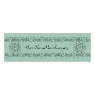 Tarjeta flaca de la introducción de Nonogram Tarjetas De Visita Mini