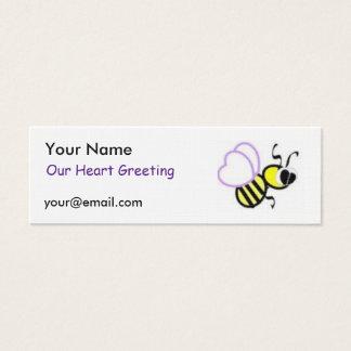 Tarjeta flaca de la plantilla del ms tarjetas de visita mini