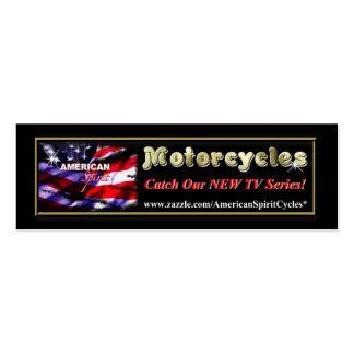 Tarjeta flaca del ANUNCIO de las motocicletas amer Plantilla De Tarjeta De Visita