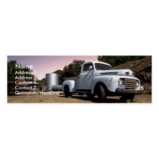Tarjeta flaca del camión del vintage plantillas de tarjeta de negocio