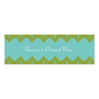 Tarjeta flaca del cordón azul y verde tarjetas de visita mini