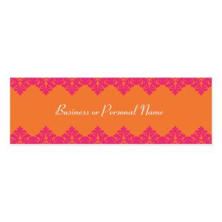 Tarjeta flaca del cordón de las rosas fuertes y de tarjetas de visita mini