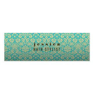 Tarjeta flaca del estilista barroco del papel pint tarjetas de visita mini