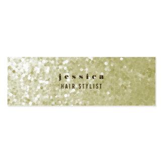 Tarjeta flaca del estilista de la lentejuela del b tarjetas de visita mini