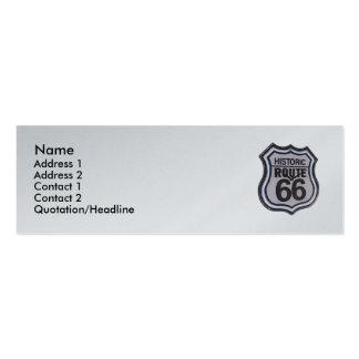 Tarjeta flaca del perfil de la ruta 66 históricos tarjeta de visita