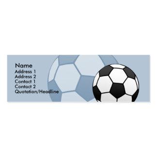 Tarjeta flaca del perfil del balón de fútbol de tarjetas de visita mini