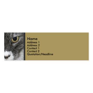 Tarjeta flaca del perfil del gato tarjetas de visita mini