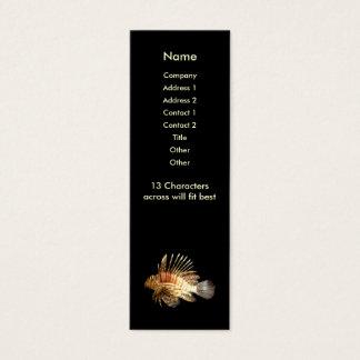 Tarjeta flaca del perfil del Lionfish Tarjetas De Visita Mini