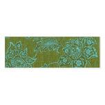 Tarjeta flaca del perfil - flores tarjetas de visita mini