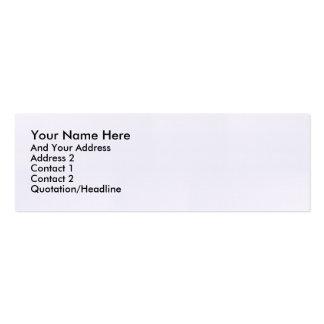 Tarjeta flaca estándar tarjetas de visita mini