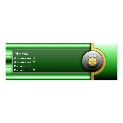 Tarjeta flaca metálica de alta tecnología con tarjetas de visita mini