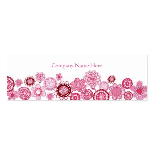 Tarjeta flaca rosada del perfil del negocio del bl plantillas de tarjetas de visita