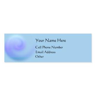 Tarjeta flaca soñadora del perfil plantilla de tarjeta personal