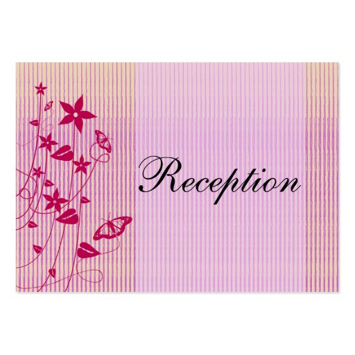 Tarjeta flor rosada y roja Butterf del | de la rec Tarjeta De Visita