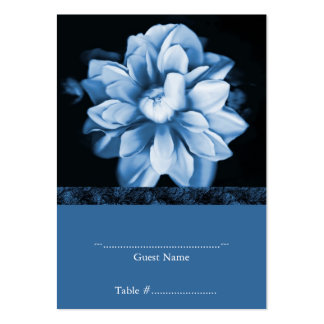 Tarjeta floral azul del asiento del boda de la tarjetas de visita grandes