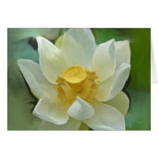 Tarjeta floral blanca