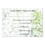 """Tarjeta floral blanca verde teñida de RSVP que se Invitación 3.5"""" X 5"""""""