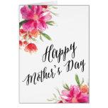 Tarjeta floral brillante del día de madre del |