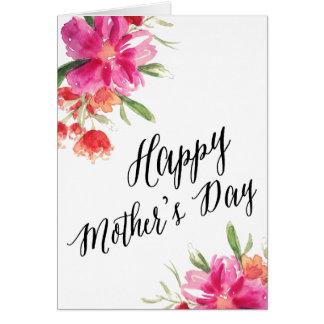 Tarjeta floral brillante del día de madre del  