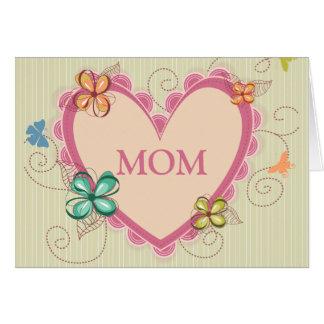 Tarjeta floral caprichosa del día de madre de la m