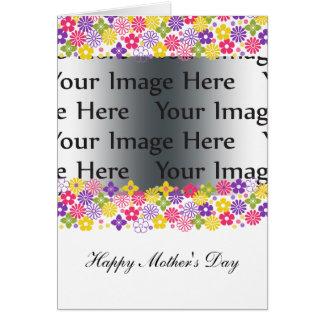 tarjeta floral colorida de la foto del día de