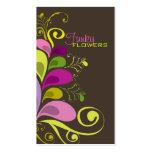 Tarjeta floral colorida del perfil de la tarjetas de visita