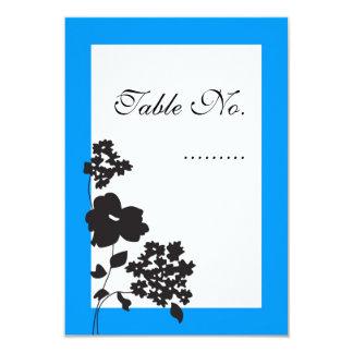 """Tarjeta floral contemporánea de la colocación de invitación 3.5"""" x 5"""""""